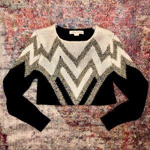 Staring at Stars Black & Gold Chevron Sweater